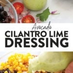 Avocado Cilantro Lime Dressing