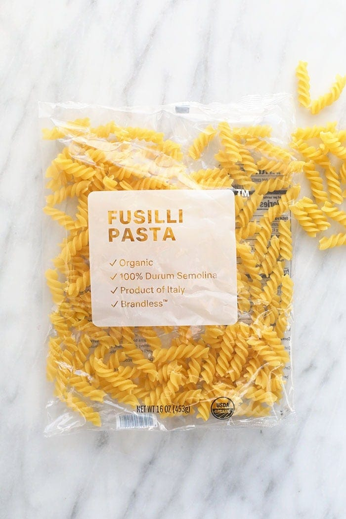 fusilli pasta for vegan pasta bake