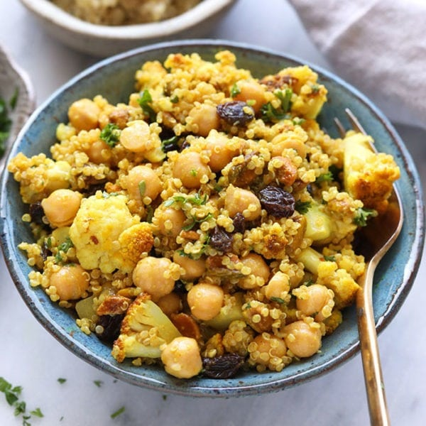 Golden Roasted Cauliflower and Quinoa Salad