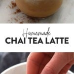 long chai tea latte photo collage