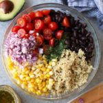 A photo of quinoa salad ingredients