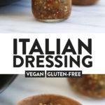 A long image of italian dressing
