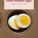 hard boiled eggs in muffin tin