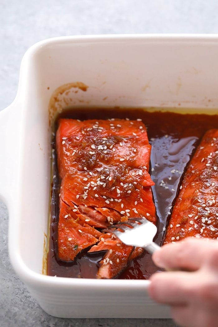maple ginger baked salmon baked to perfection