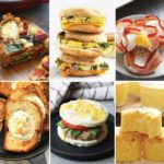 a photo collage of healthy egg recipes