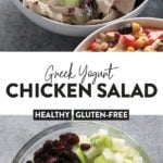 Greek yogurt chicken salad pin
