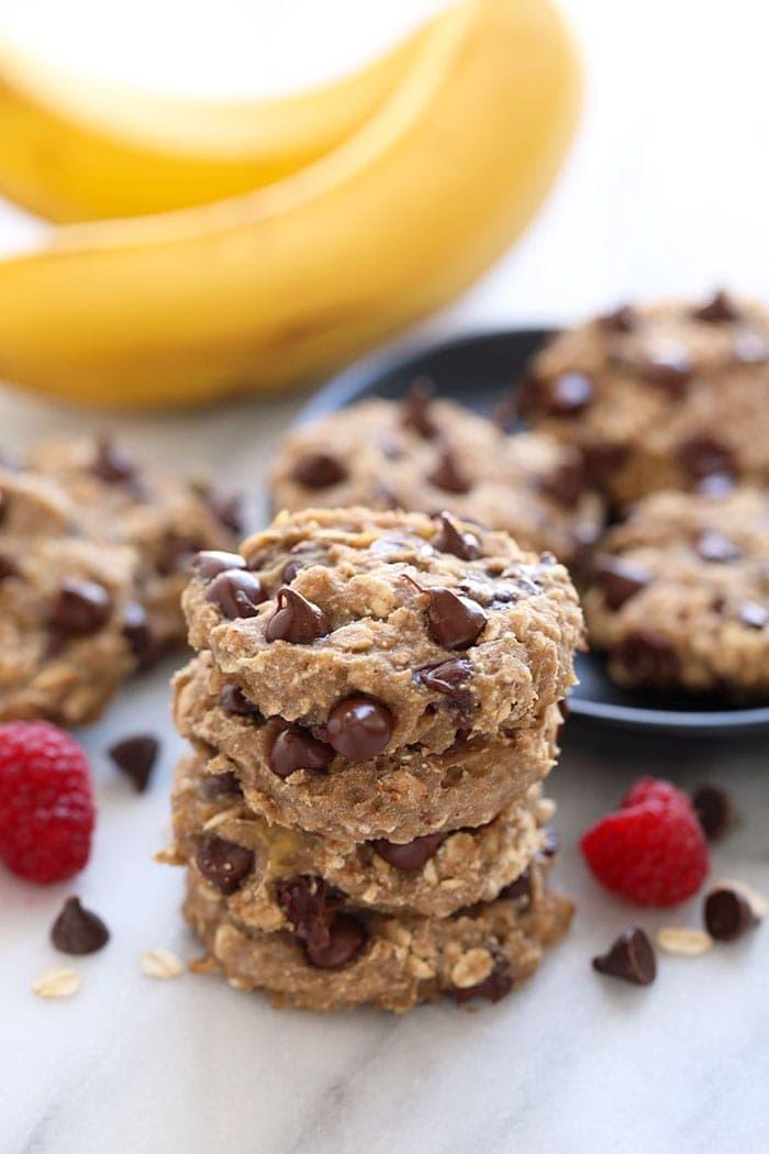 Oatmeal Banana Cookies (3-ingredients!) - Fit Foodie Finds
