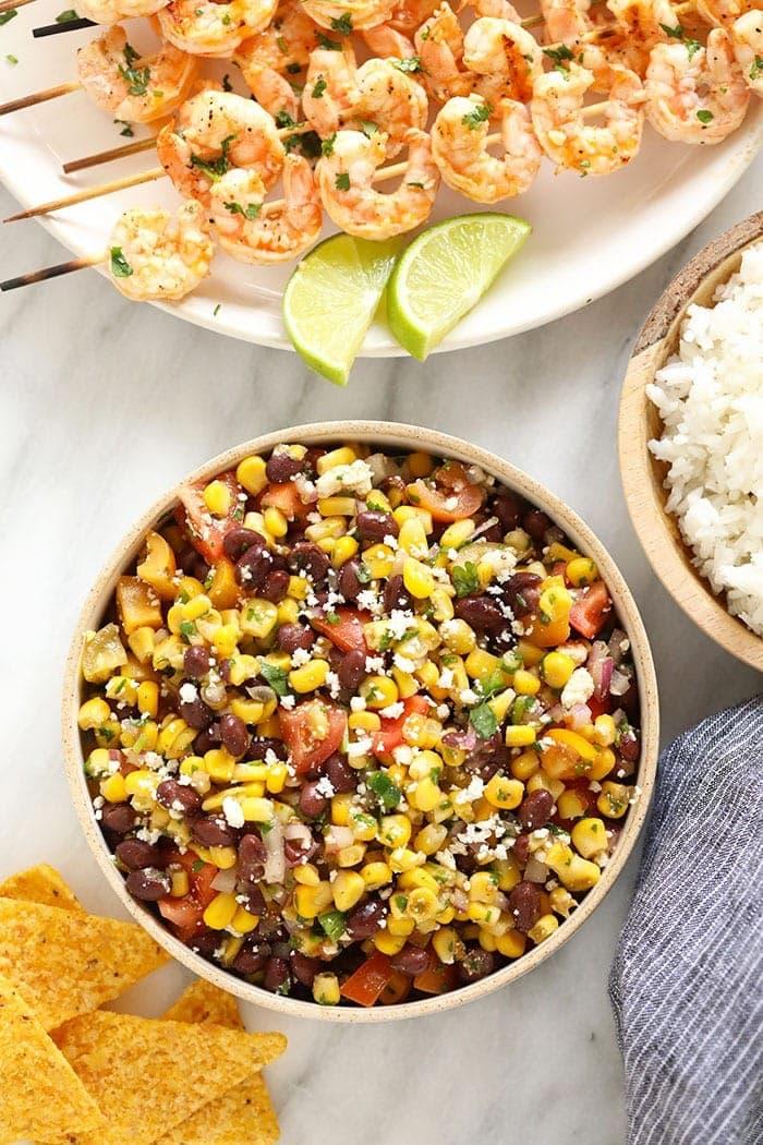 Black Bean Corn Salad in bowl