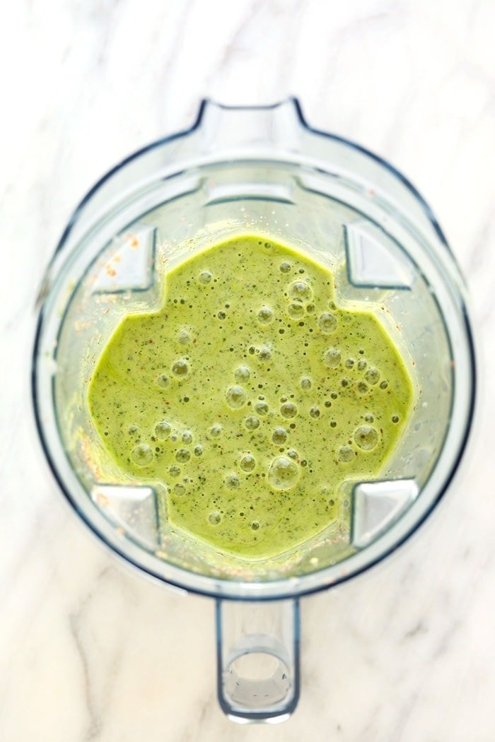 kale smoothie blended to perfection