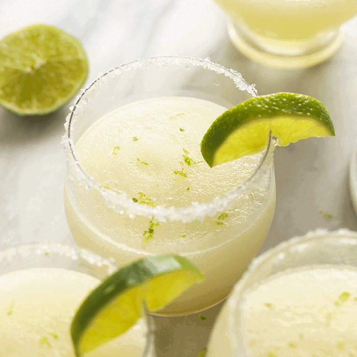 Frozen Margaritas with lime