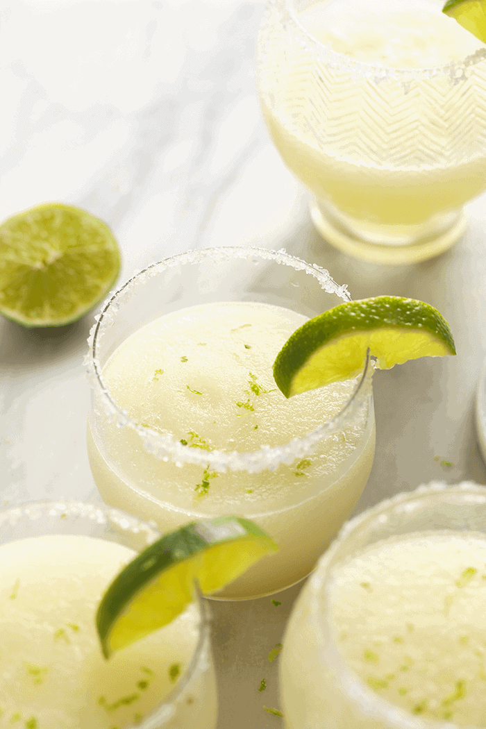 Frozen Margarita with lime