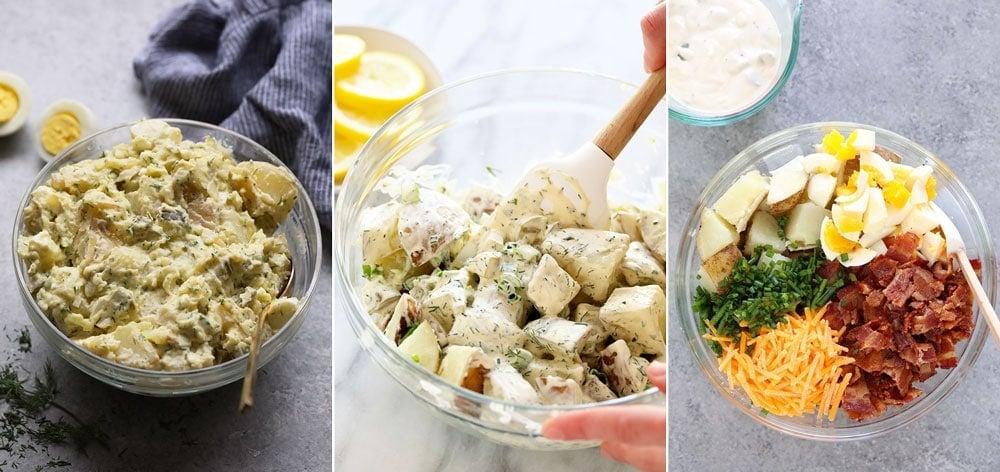 Instant Pot potato salad, vegan potato salad, loaded baked potato salad.