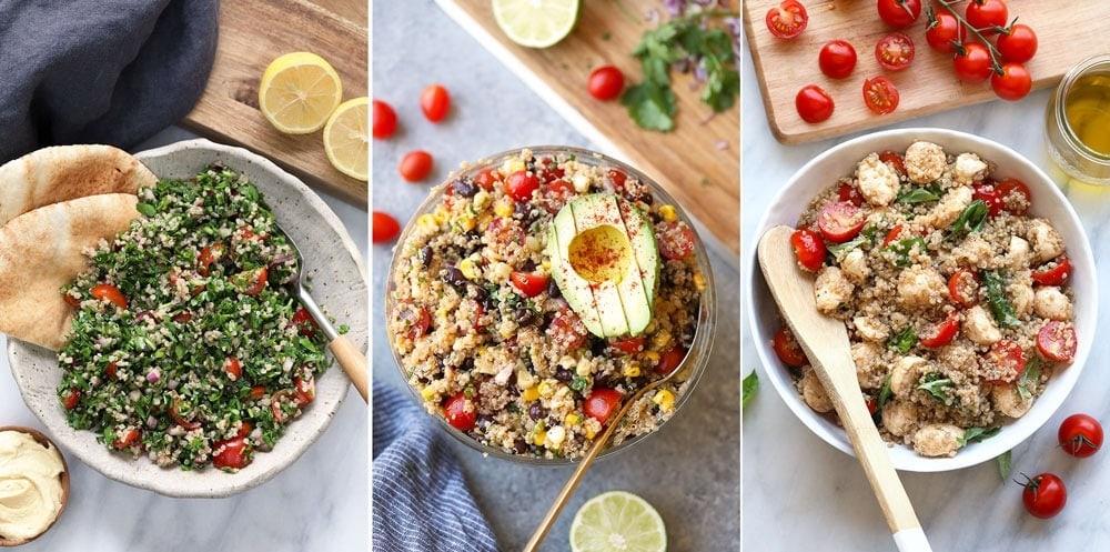 Quinoa tabouli, Mexican quinoa salad, Caprese quinoa salad