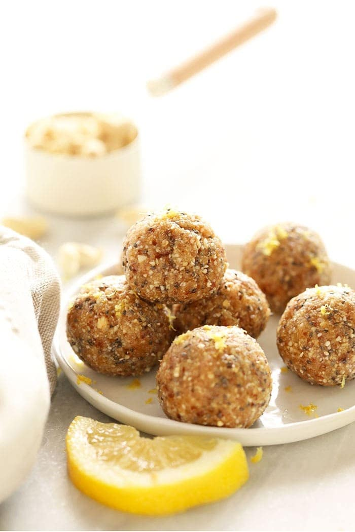 Energy balls on a plate