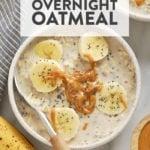 creamy banana overnight oats