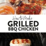 grilled bbq chicken pin