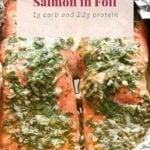 salmon in foil pin