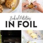baked potato in foil
