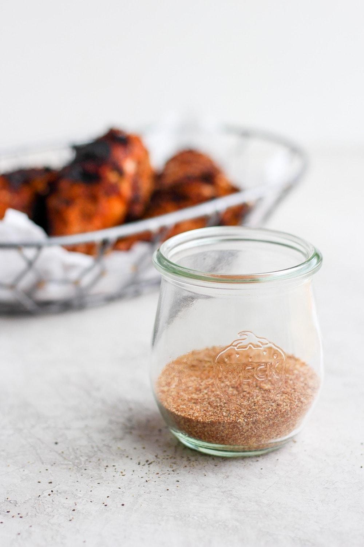 dry rub for chicken in a mason jar