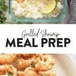 grilled shrimp meal prep bowls