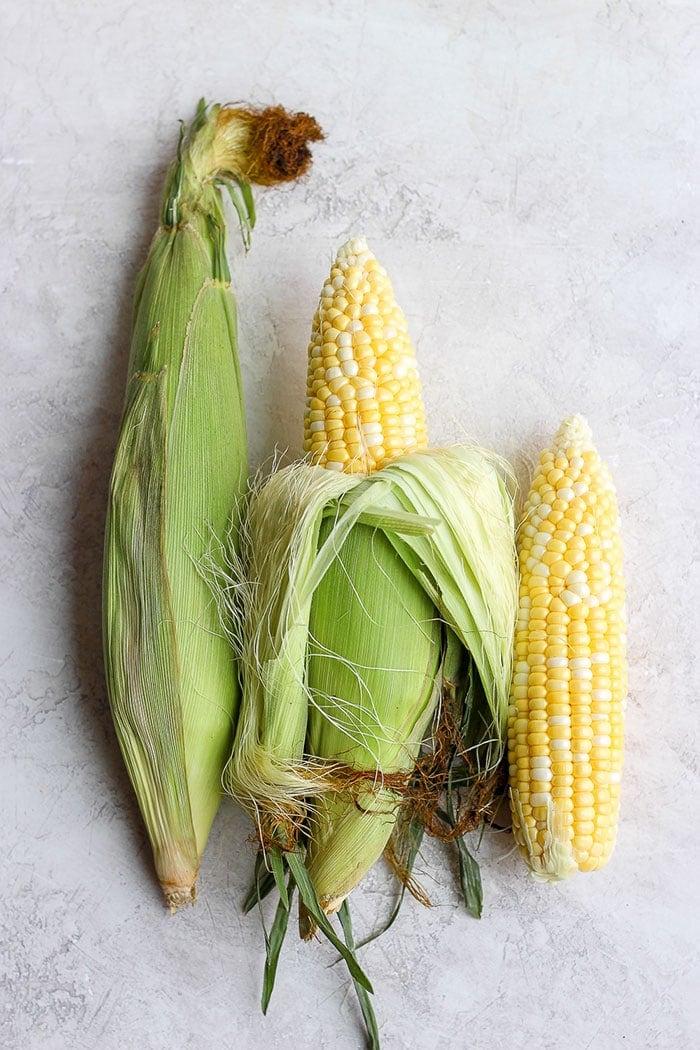 3 ears of corn