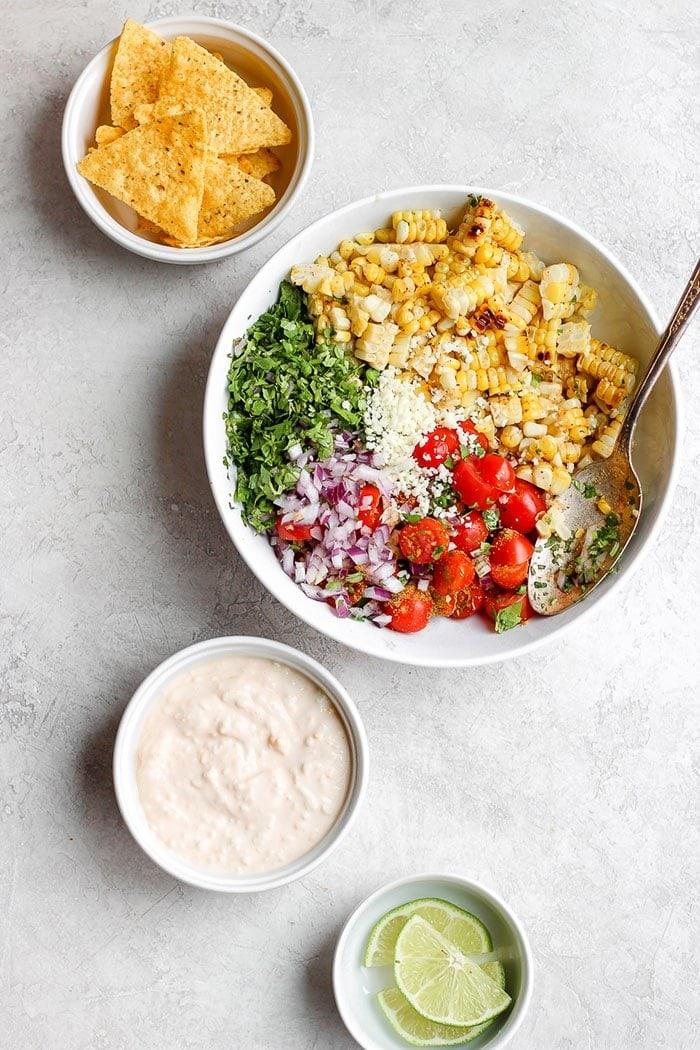 Mexican Street Corn Salad in a bowl