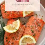seared salmon on plate