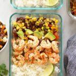 grilled shrimp meal prep bowl
