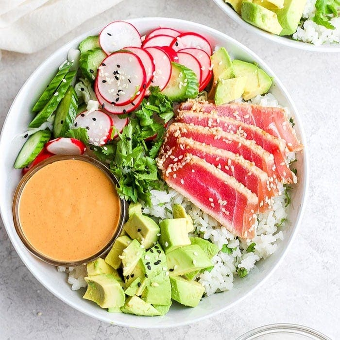 Seared Ahi Tuna Bowl Easy Healthy Meal Prep Fit