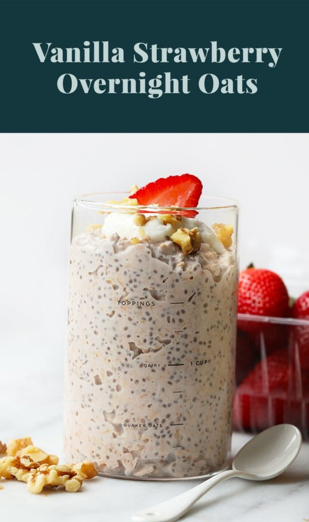 overnight oats in jar