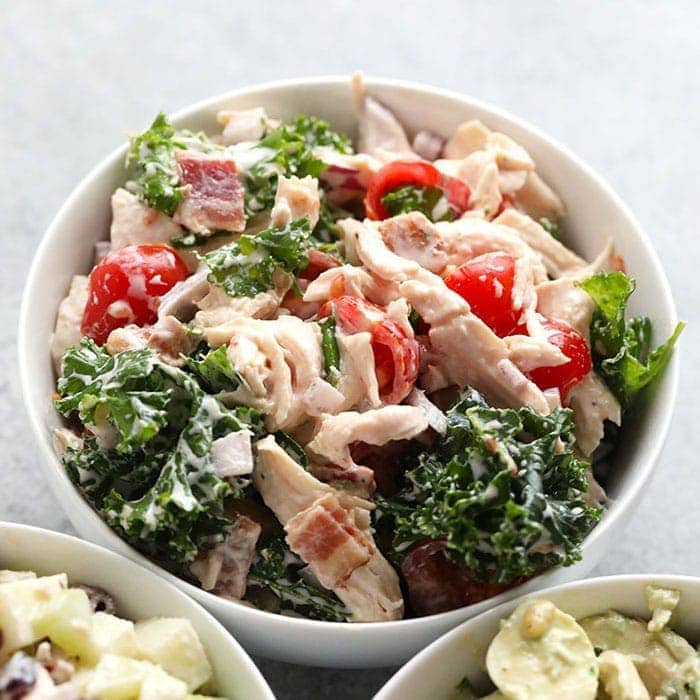 Creamy Pesto Chicken Salad Protein Packed Fit Foodie Finds