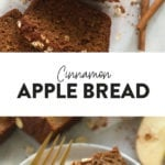 cinnamon apple bread loaf