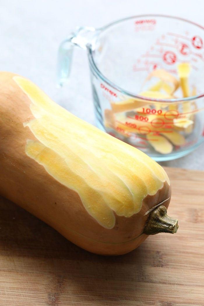 peeled butternut squash