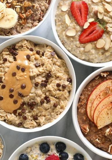 5 bowls of oatmeal