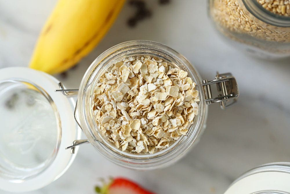 quick cooking oats in jar