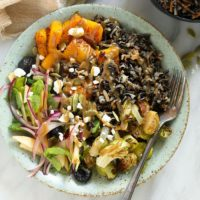 vegetarian harvest grain bowl