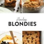 flourless blondies