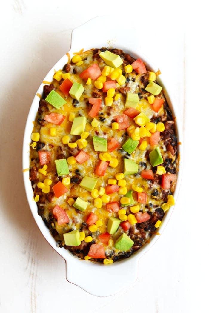 Chicken Burrito Bowl Casserole