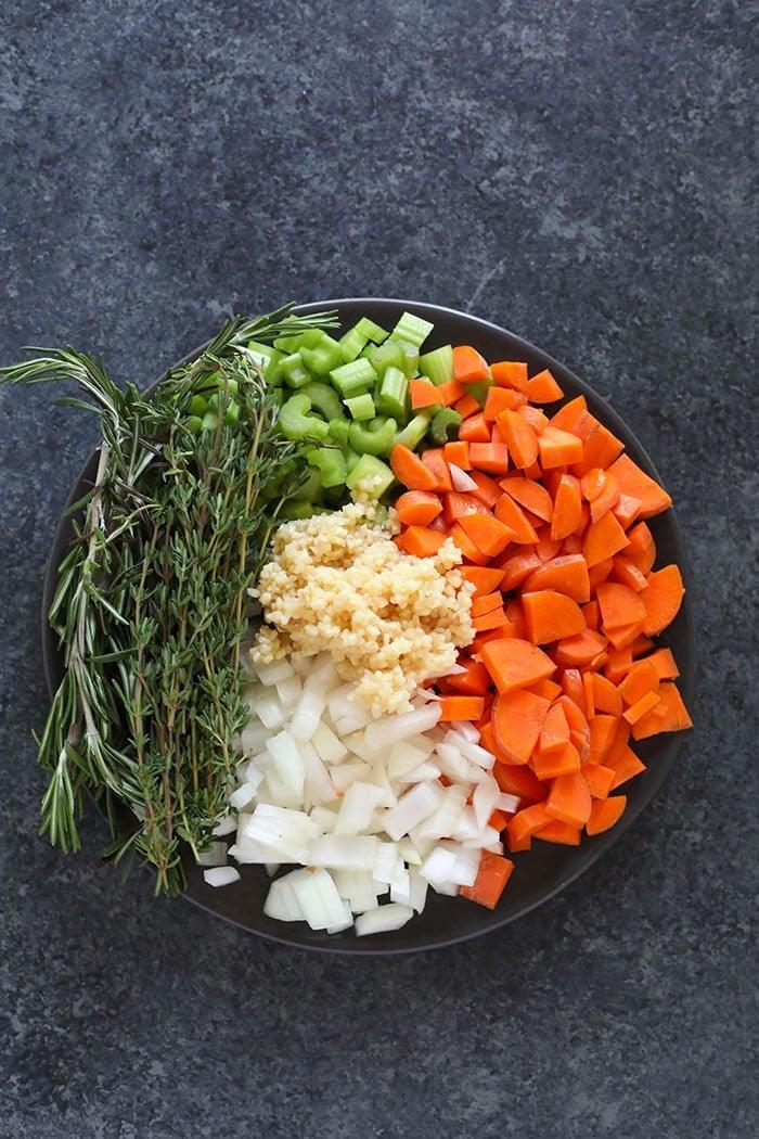 ingredients on plate