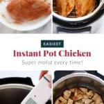 Step by step on how to make Instant Pot chicken breast