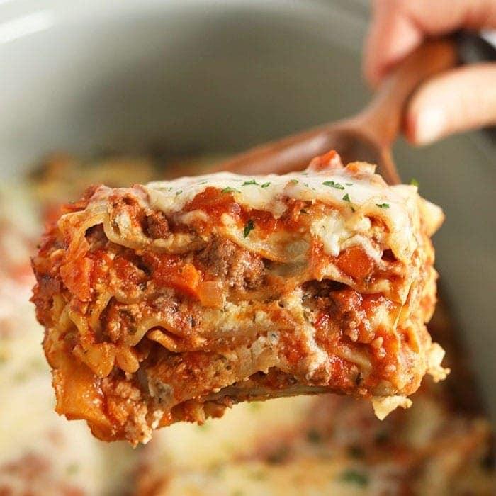 Amazing Crockpot Lasagna