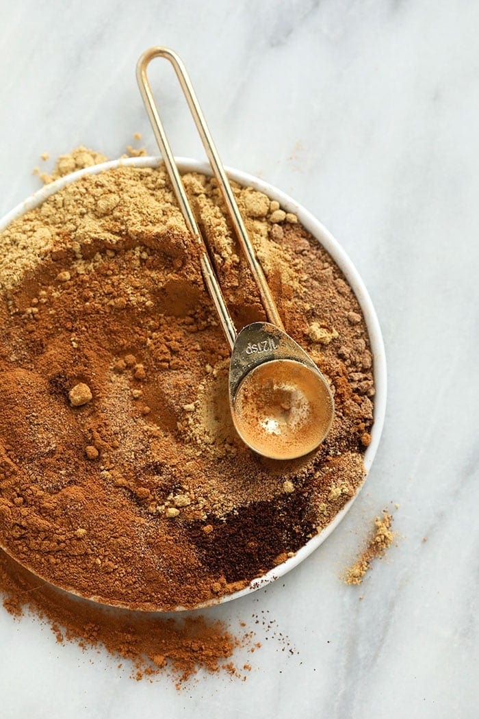 pumpkin pie spices on a plate