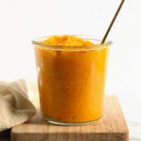 butternut squash puree in a jar
