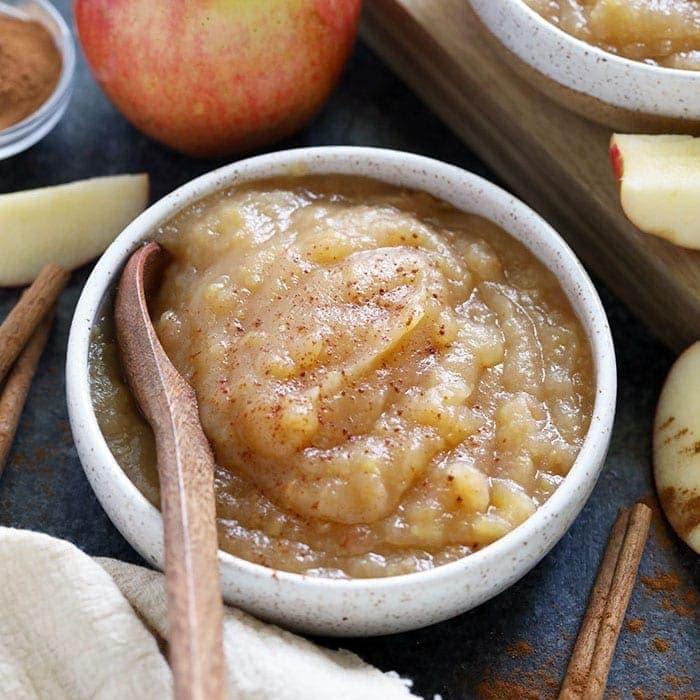 homemade applesauce in bowl