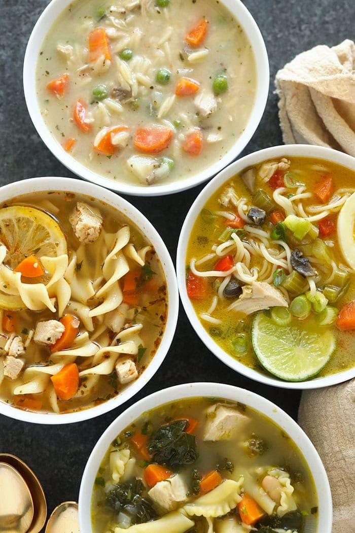 4 kinds of chicken noodle soup