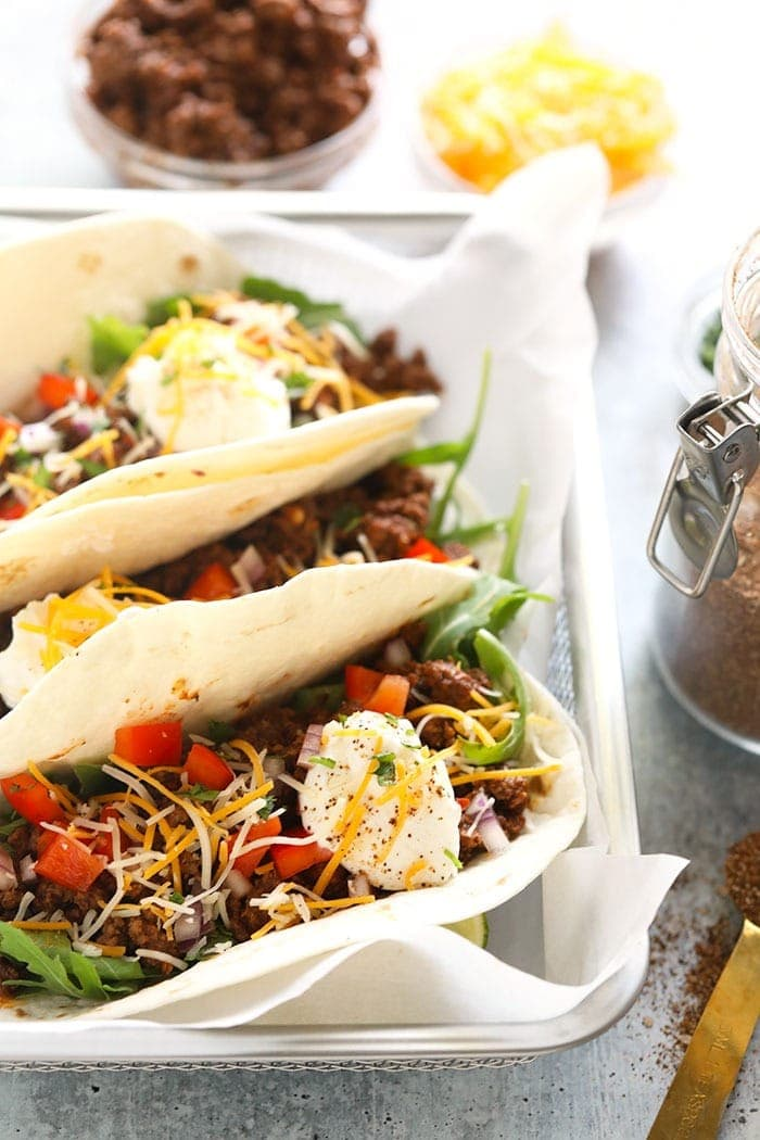 easy ground beef tacos ready to eat