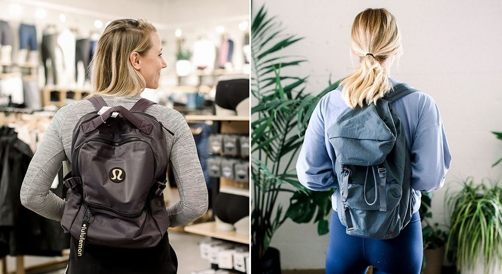 lululemon fall backpacks from fit foodie finds