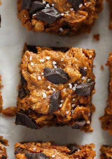 pumpkin oatmeal cookie bars