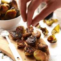 roasted brussel sprouts with olive oil