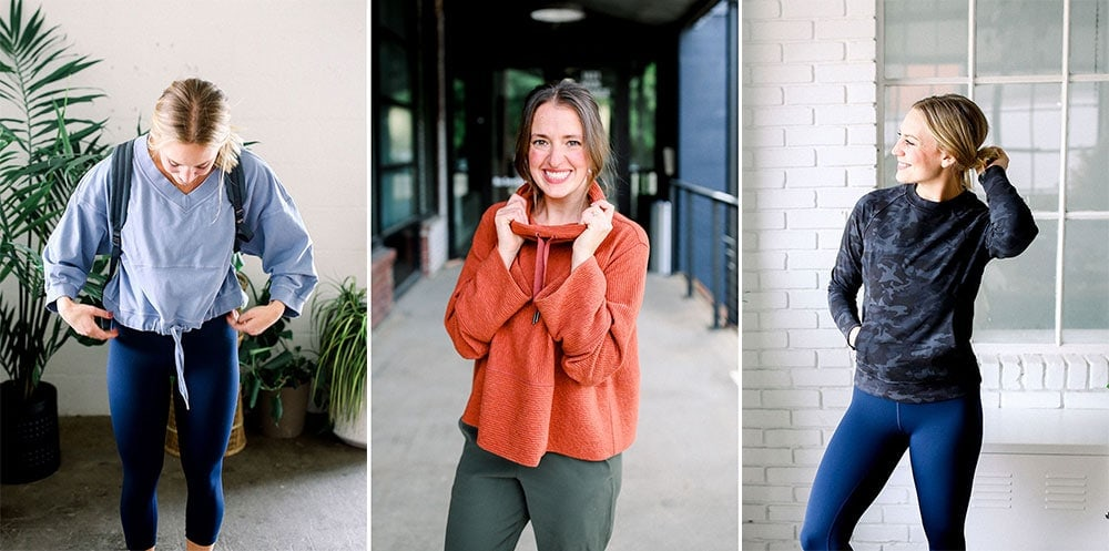 lululemon fall sweatshirts from fit foodie finds